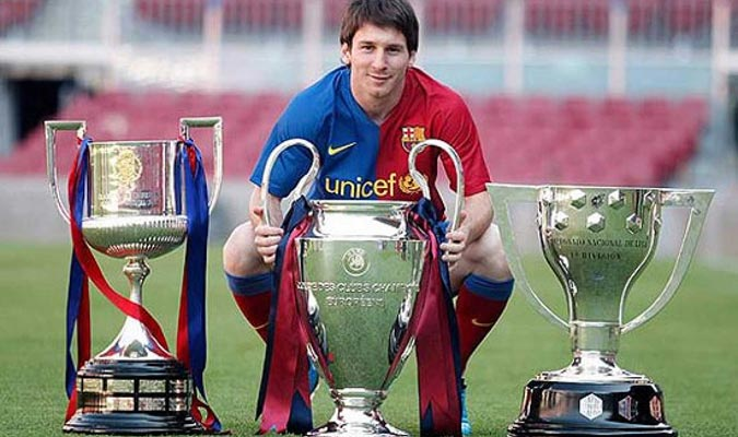 Messi junto al primer