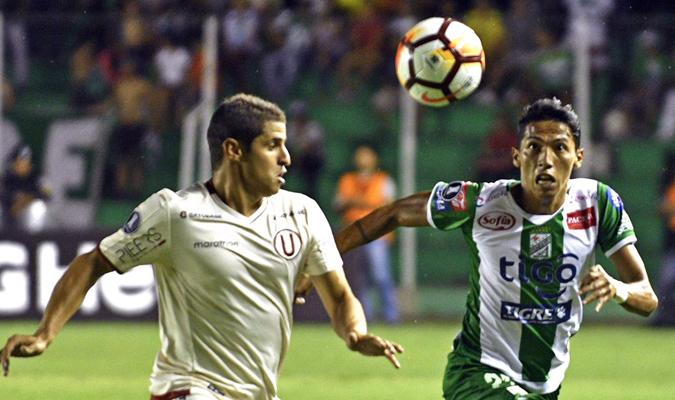 Oriente Petrolero picó adelante en la ida 2-0 sobre Universitario | Foto: @CONMEBOL