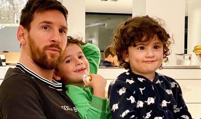 Messi disfruta con sus hijos/ Foto Cortesía