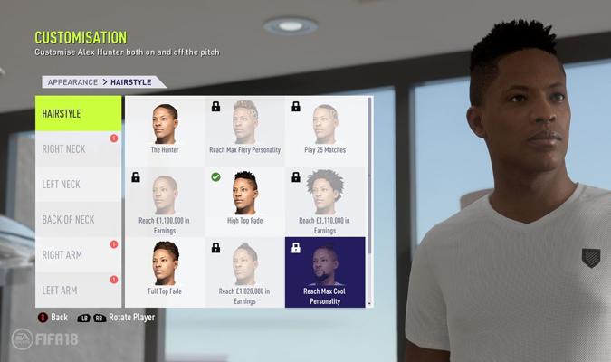 Se podrá modificar de distintas maneras el cabello del jugador y otros aspectos / Foto EA Sports
