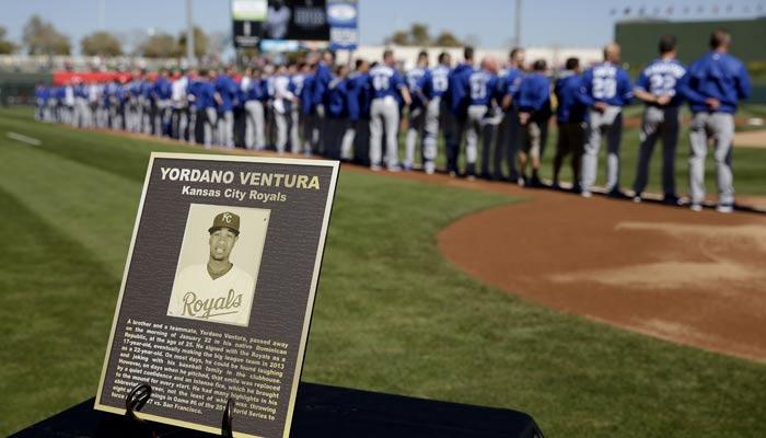 Reales recordaron a Yordano Ventura /Foto AP