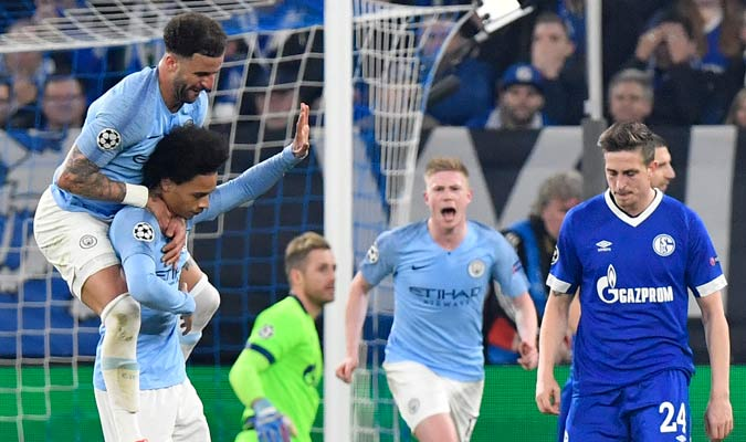Sané no quiso celebrar su gol/ Foto AP