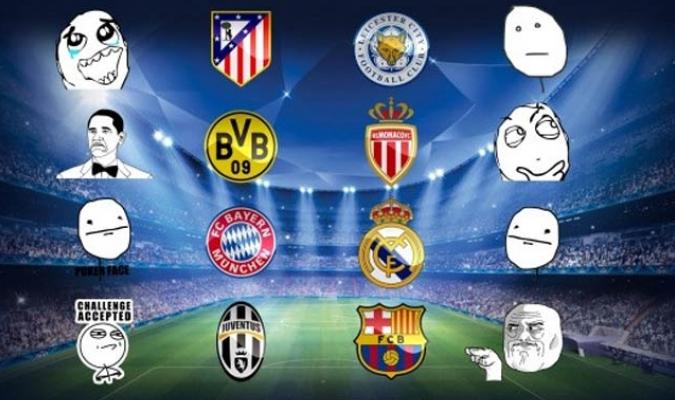 Los mejores memes del sorteo de cuartos de final de la Champions