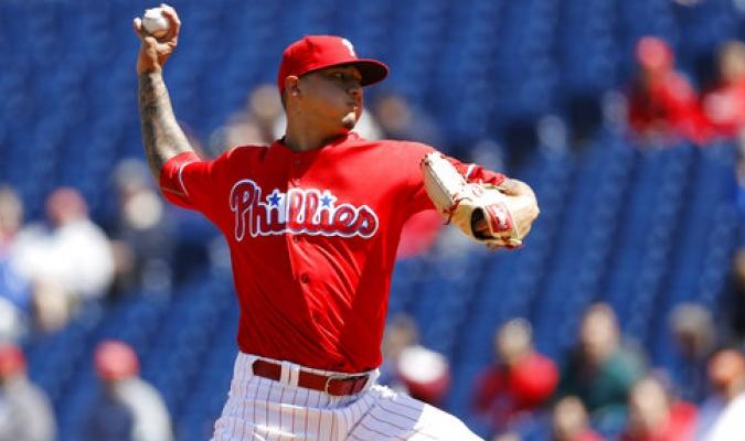 Velasquez en su presentación con los Phillies de Filadelfia / Foto: AP