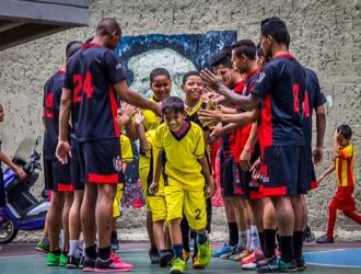Los niños gozaron | Prensa Caracas Futsal Club