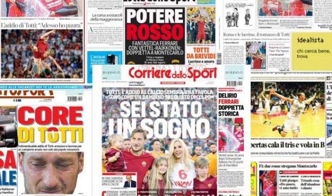 Algunos diarios italianos resaltaron el adiós de Il Capitano