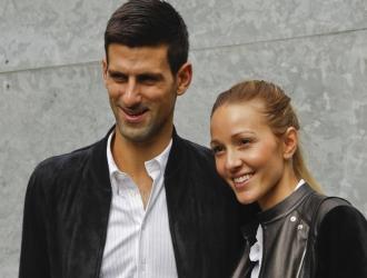 Novak Djokovic junto a su esposa Jelena/Foto AP
