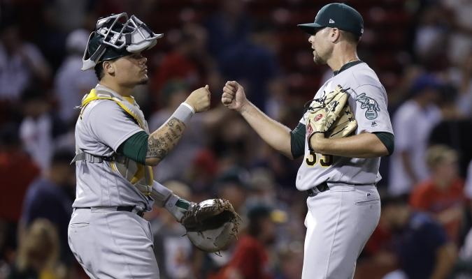 Oakland dominó el duelo / AP