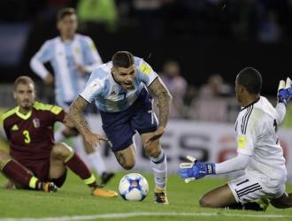 Durante el partido ante Argentina / AP