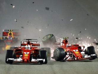 Momento del choque /Foto AP