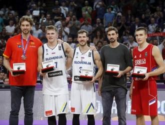 El esloveno fue la figura del torneo europeo / Foto EFE