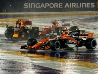 Alonso lamentó ser víctima del choque / Foto EFE
