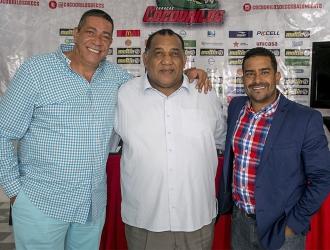 Rostin González (I), Néstor Salazar (C) y Oswaldo Narváez | Prensa Cocodrilos