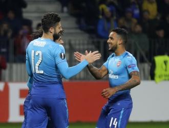 Celebración tras el gol / AP