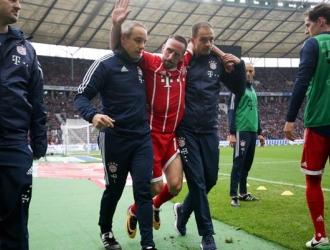 Ribery seguirá un tratamiento conservador/ Foto AP