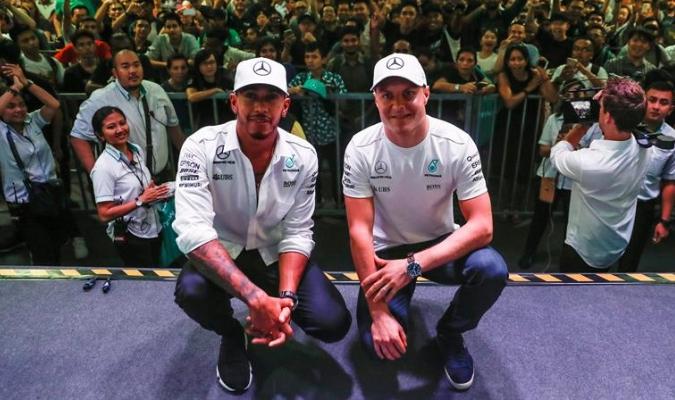 Hamilton y Bottas | EFE