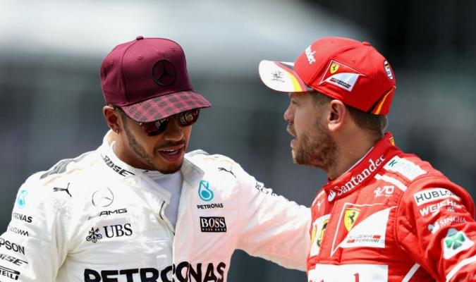 Vettel y Hamilton | Cortesía