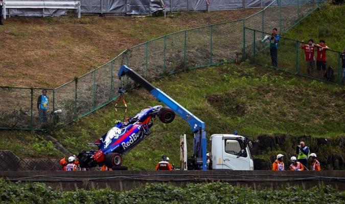 Sainz sufrió un fuerte accidente |