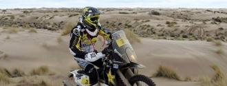 El chileno está cerca de llevarse el Rally de motos / Foto Agencia