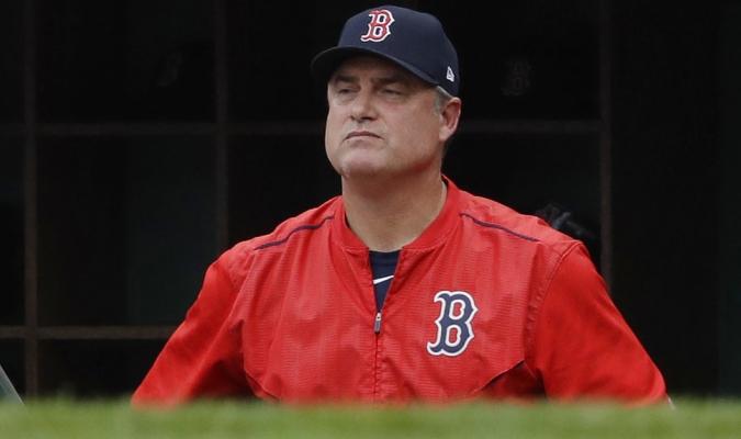 John Farrell durante el cuarto juego contra los Astros /Foto AP