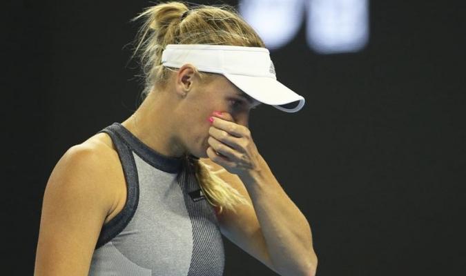 Wozniacki sufrió / EFE