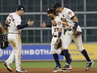 Astros celebraron / AP