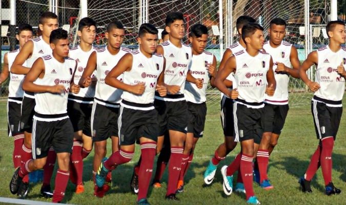 Los chicos de la sub-15 encaran la última etapa / Foto Prensa Vinotinto