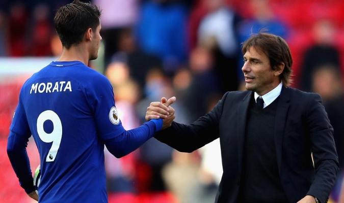 Álvaro Morata y Antonio Conte / Chelsea Season