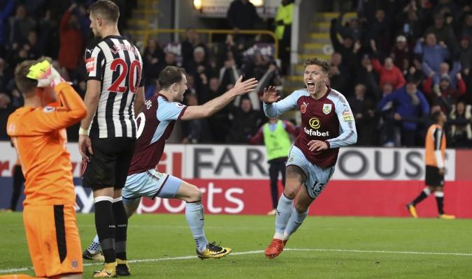 Burnley celebró / AP