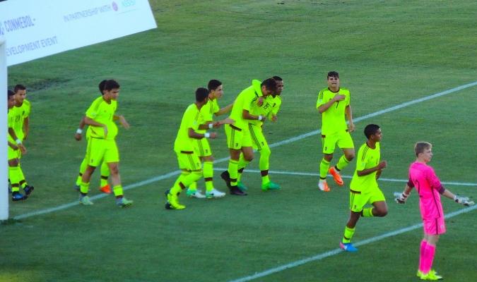 Celebración tras uno de los goles / @CONMEBOL