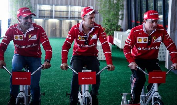 Los hombres de Ferrari se relajaron previo al penúltimo GP / Foto EFE