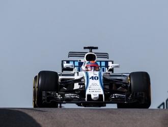 Kubica rodó 100 vueltas en Yas Marina / Foto @WilliamsRacing