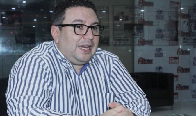 Rubén Villavicencio, presidente de La Liga FutVe | Foto: David Urdaneta