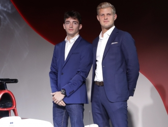 Charles Leclerc y Marcus Ericsson