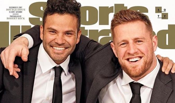 José Altuve y JJ Watt | Foto: Sport Illustrated