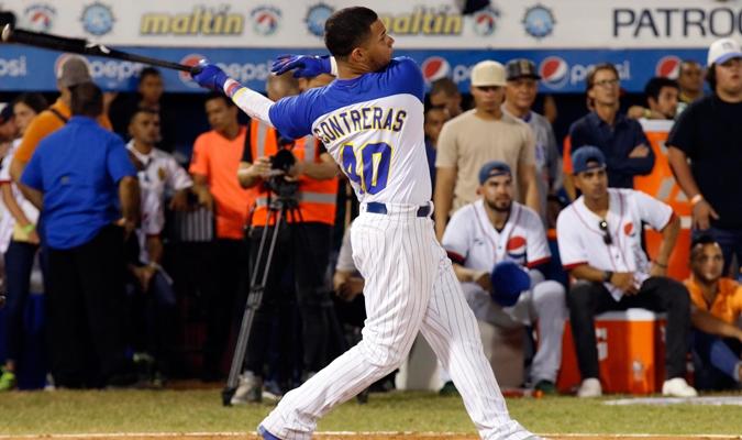 El venezolano durante el Derby de Jonrones / AVS