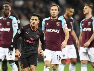 Alexis no pudo ante el West Ham / EFE
