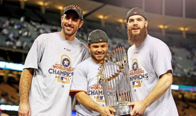 Astros estrenarán el trofeo en casa / Foto AP