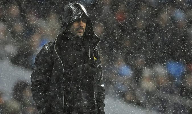 Durante el partido ante el Watford / AP