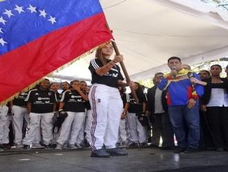 Castellanos recibió la bandera nacional   Foto: José Félix Lara