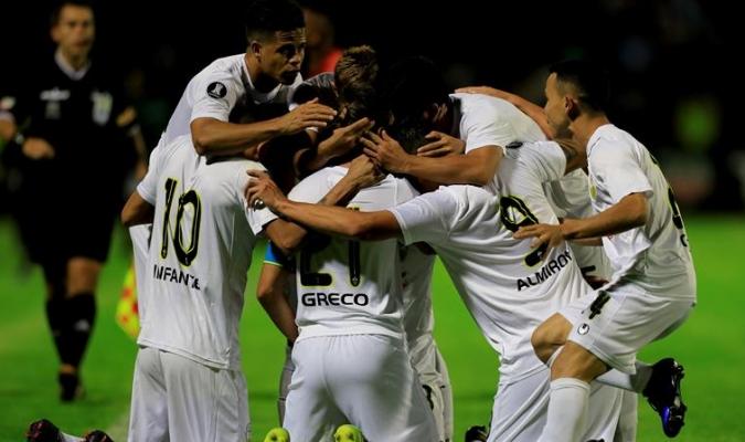 Táchira celebra el empate / Cortesía @DvoTachira