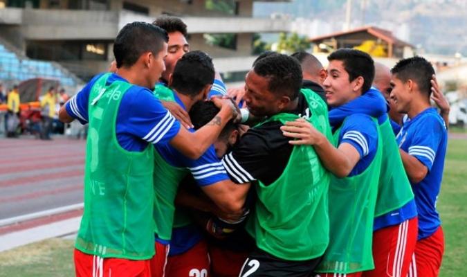 Celebración del único tanto / Prensa Atlético Venezuela
