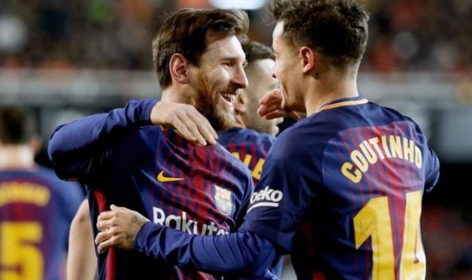 Coutinho estuvo emocionado por su gol / Foto EFE