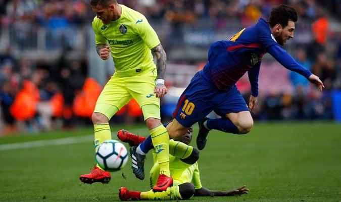 El Barça no pudo superar a la defensa del Getafe/ Foto AP