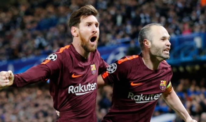 Messi y Iniesta / AP