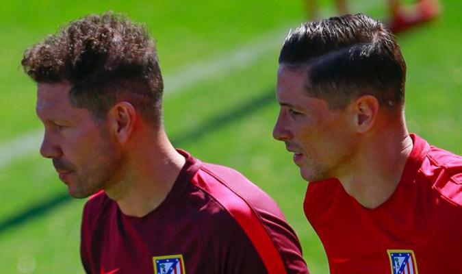Simeone junto a Torres/ Foto Cortesía