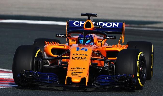 Alonso manejó su auto naranja / Foto @McLarenF1
