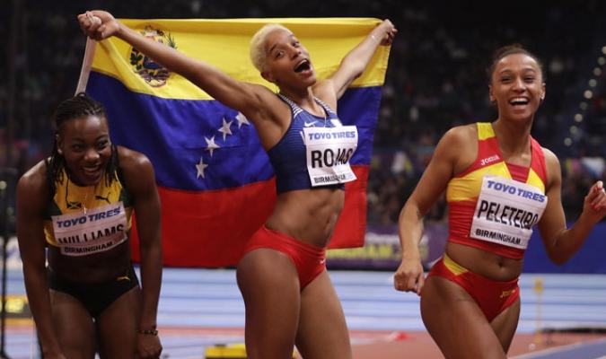 La venezolana conquistó el bicampeonato en el salto triple en el mundial de atletismo   