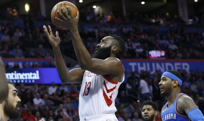 James Harden contra Oklahoma / AP
