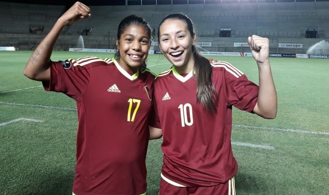 Carrasco (17) y Olivieri (10) anotaron en la victoria Vinotinto| Prensa @FemeninoFVF